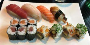 Good sushi selection but lacking a proper lunch menu: Restaurant Kai Sushi Lessing (5. April 2017)