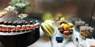 Functional lounge with good food offering: Executive Lounge @ Le Méridien Bahrain City Centre (4. November 2017)