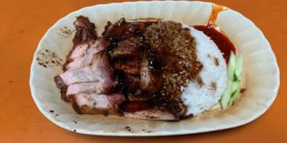 When the line is huge it means the food is good: Hock Soon Roasted Duck Rice @ Maxwell Food Centre (2. January 2019)