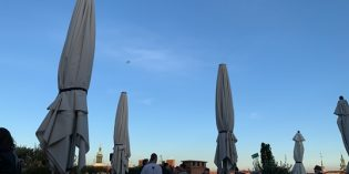 Lovely rooftop terrace with musical support: Bar Freiblick by Eckstein (12. October 2019)