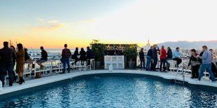 Amazing view over Málaga but again super weak service: Rooftop Bar @ AC Hotel by Marriott Málaga Palacio (25. December 2019)