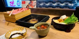 First local Japanese food experience – sukiyaki: Restaurant Hokuto Gems Namba (8. March 2020)