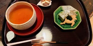 Japanese tea ceremony in a traditional setting: Machiya Cafe Kanna (11. March 2020)