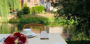 Absolutely amazing breakfast location – a bit below my expectations: Hôtel des Berges (23. August 2020)